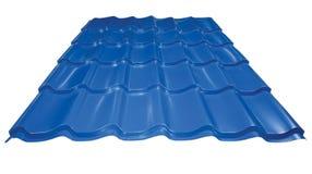 Azulejo azul del metal Foto de archivo libre de regalías