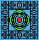 Azulejo azul del vidrio manchado ilustración del vector