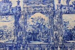 Azulejo (azulejo) Fotografia de Stock Royalty Free