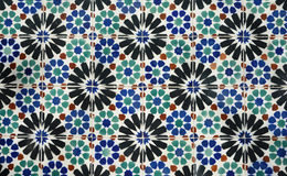 Azulejo background. The traditional portuguese glazed ceramics found on the wall of historical buildings Stock Photos