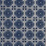 Azulejo bakgrund, portugis eller moroccan, tegelplattor, arabisk vägg D Royaltyfria Bilder