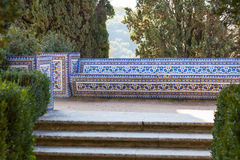 Azulejo Bench. Convent of Christ, Tomar, Portugal Royalty Free Stock Photography