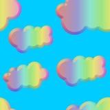 Azulejo biselado en colores pastel inconsútil de las nubes libre illustration