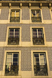 Azulejo on building in Lisbon in Portugal Royalty Free Stock Images
