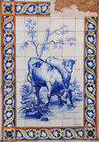 Azulejo. (ceramic tile). Portuguese traditional art Stock Images
