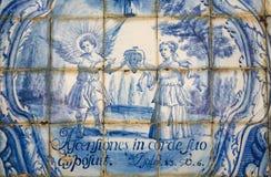 Azulejo dépeignant un psaume photographie stock