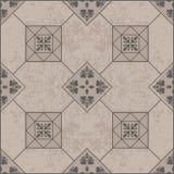 Azulejo de Brown com teste padrão sem emenda, floral Imagens de Stock