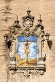 Azulejo de Jesús en la cruz, Sevilla Foto de archivo libre de regalías