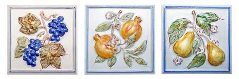 Azulejo de las frutas Foto de archivo