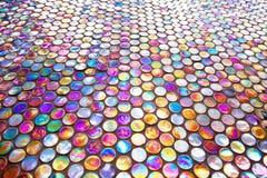 Azulejo de mosaico de cristal redondo Fotografía de archivo libre de regalías