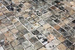 Azulejo de suelo de piedra Foto de archivo libre de regalías