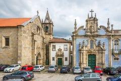 Azulejo decorated church Ordem de Sao Francisco in Guimaraes - Portugal Stock Images