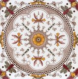 Azulejo decorativo antiguo del Victorian imagenes de archivo