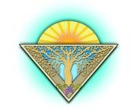 Azulejo del jardín del art déco ilustración del vector