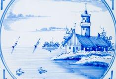 Azulejo del paisaje marino Imagen de archivo