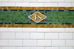 Azulejo del subterráneo de Nueva York Foto de archivo