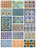Azulejo design collage from Lisbon, Portugal Stock Image
