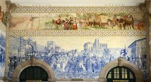 Azulejo em São Bento Railway Station, Porto, Portugal Imagem de Stock