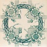 Azulejo estético de la guirnalda Foto de archivo