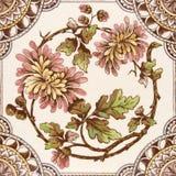 Azulejo estético del período de la antigüedad Fotografía de archivo libre de regalías