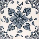Azulejo estético antiguo del diseño Fotografía de archivo