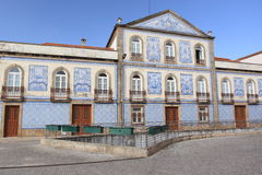 Azulejo-Fassade in Aveiro Stockfoto