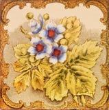 Azulejo floral antiguo fotografía de archivo