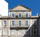 Azulejo in the front of a building, Portugal Stock Photos