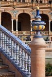 Azulejo Glazed Balustrade and Finial Stock Photo