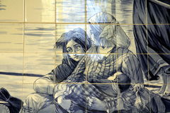 Azulejo i Porto Royaltyfria Bilder