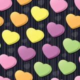 Azulejo inconsútil de los corazones de la conversación Fotografía de archivo