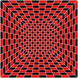 Azulejo inconsútil del negro, blanco y rojo, vector ilustración del vector