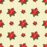 Azulejo inconsútil del Poinsettia rojo Fotos de archivo