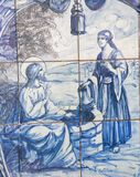 Azulejo - Jesus and the Samaritan woman at the well Stock Photography