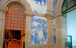 The azulejo panels in interior Stock Images