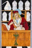 Azulejo pintado del arte Imágenes de archivo libres de regalías