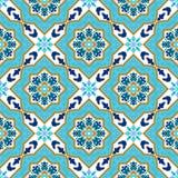 Azulejo portugais Modèles blancs et bleus images stock