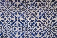 Azulejo portugais traditionnel de carreaux de céramique fond d'azulejo Photo libre de droits