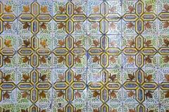 Azulejo portugais traditionnel de carreaux de céramique fond d'azulejo Images libres de droits