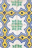 Azulejo, Portugal. View of the famous Portuguese Azulejo : painted tin-glazed ceramic tilework.nnAzulejos are found on the interior and exterior of churches Royalty Free Stock Photo