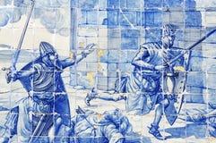 Azulejo - portuguese ceramic Royalty Free Stock Photos