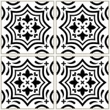 Azulejo - Portuguese tile design, seamless vector black and white pattern, retro mosaics set Royalty Free Stock Photo