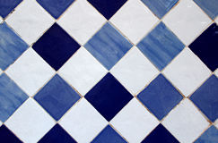 Azulejo, Portuguese traditional old hand painted art tile Stock Photos