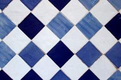 Azulejo, Portuguese traditional old hand painted art tile. Azulejo is a Portuguese traditional old hand painted art tile Stock Photos