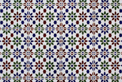 Azulejo Portuguese traditional painted art tile texture Stock Images