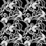 Azulejo que relanza blanco y negro adornado libre illustration