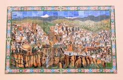 Azulejo spagnolo della città di Ronda, Andalusia fotografie stock libere da diritti
