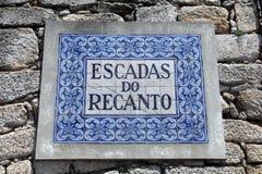 Azulejo signboard Stock Photos