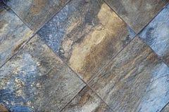 Azulejo, textura-cinzento sem emenda quadrado escuro, revestimento da telha Fotografia de Stock