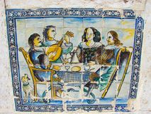 azulejos宴会葡萄牙 库存图片